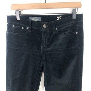 J. Crew Pants & Jumpsuits - J.Crew Toothpick Ankle Skinny Black Velvet Pants